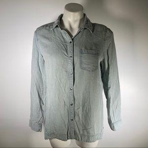 J jill chambray shirt size small